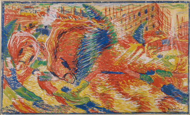 Umberto Boccioni. The city wakes up