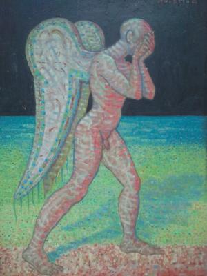 Вячеслав Коренев. Angel. The left side of the diptych.