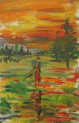 Pavel Markovich Osherov. Sunset walk