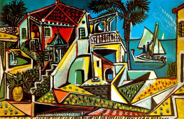 Пабло Пикассо. Пейзаж на Средиземном море