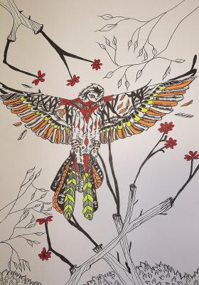 "Николай Николаевич Оларь. Series of stylized drawings, ""Birds"" (4)"