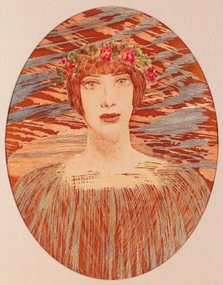 Ernst Fuchs. Naked girl