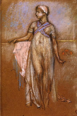 James Abbot McNeill Whistler. The Greek slave girl (or Variations in violet and rose)