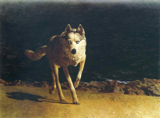 Jamie Wyeth. Wolf