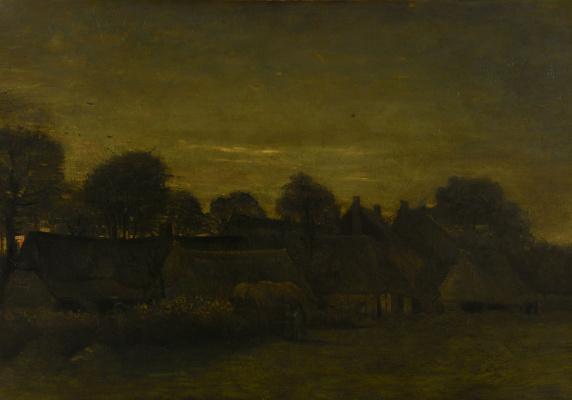 Винсент Ван Гог. Фермерская деревушка в сумерках