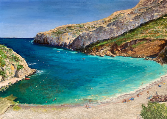 Albert Safiullin. La Cala Granadella Beach. Afternoon.