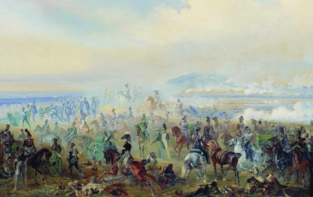 Bogdan Pavlovich Willewalde. Battle of Leipzig in 1813. 1886
