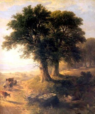 Asher Brown Durand. River scene