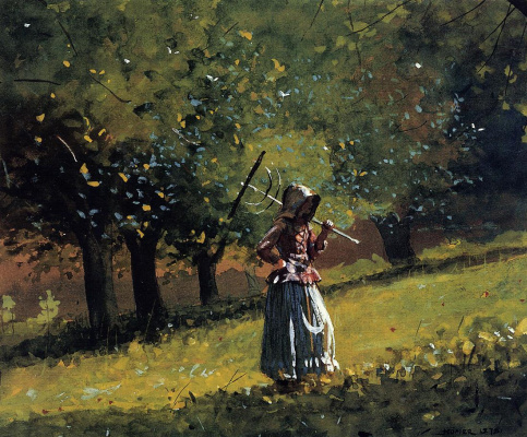 Winslow Homer. Girl with a rake