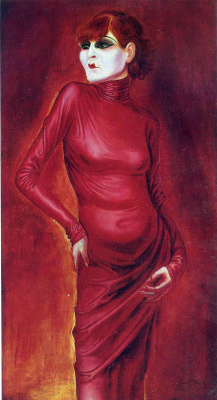 Otto Dix. Lady in red
