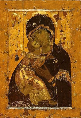 Russian Icon. Our Lady Of Vladimir