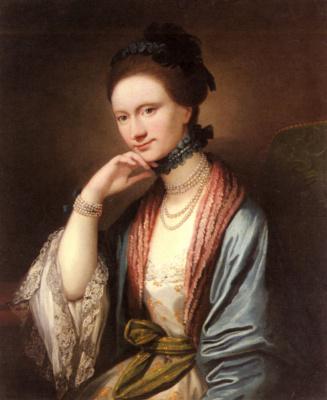 Бенджамин Уэст. Портрет Барбары Энн Хилл Медликот