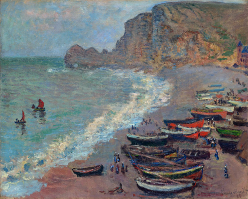 Claude Monet. Etretat, the beach and the port of Amon