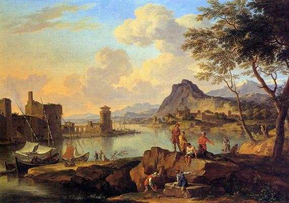 Де Иакова Хеусч. Вид на реку