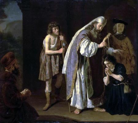 Ян Викторс. Миропомазание Давида