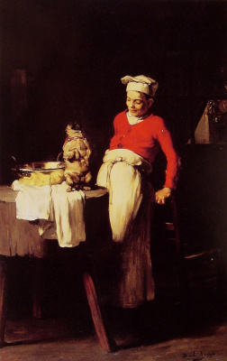 Joseph Bale. The cook and the pug