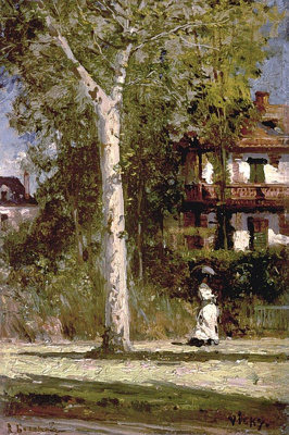 Alexey Petrovich Bogolyubov. Pink villa in Vichy. France