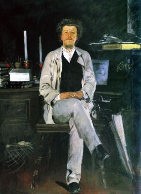 Andrei Petrovich Ryabushkin. Portrait I. F. Tyumenev. 1886-1888