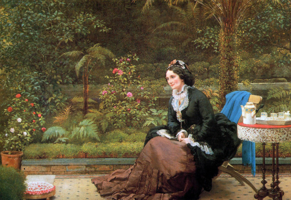 George Dunlop Leslie. English afternoon tea