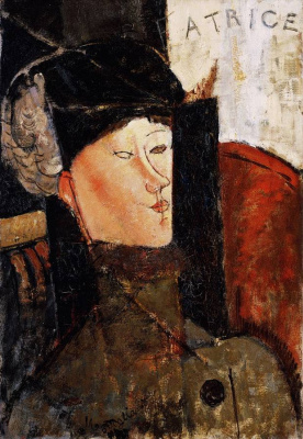 Amedeo Modigliani. Portrait of Beatrice Hastings in the hat