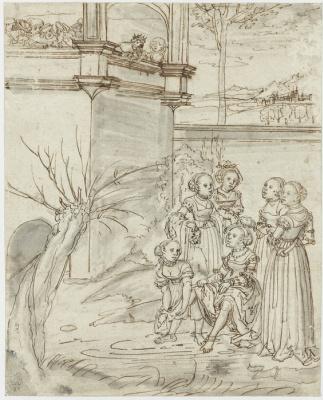 Lucas Cranach the Elder. David and Bathsheba