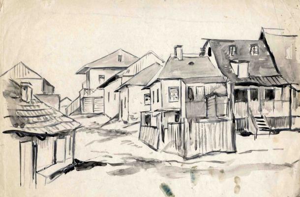 Amshey Markovic Nuremberg. Street in Erusalimka.