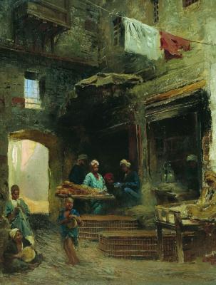 Konstantin Makovsky. Cairo yard