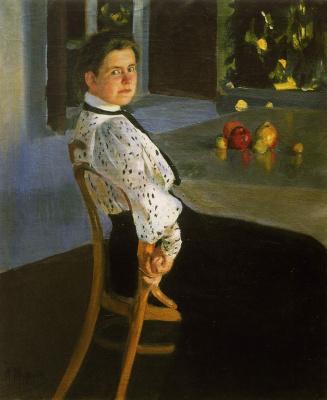 Alexander Murashko. On the veranda. Portrait Of O. I. Murashko