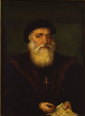 Unknown artist. Portrait of a knight of the order of Christ (Vasco da Gama?)