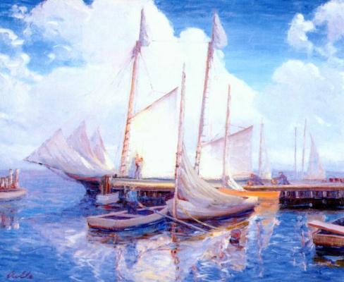 Август Ролле. Белые паруса