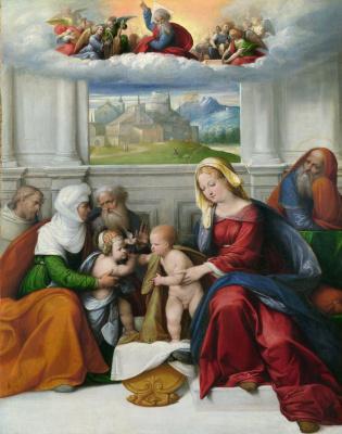 Гарофало. Святое семейство со святыми