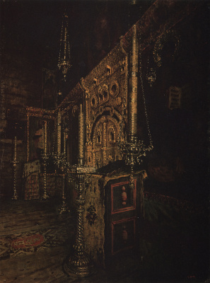 Vasily Vasilyevich Vereshchagin. The iconostasis of the Church of St. John the Evangelist on ishna near Rostov Yaroslavsky