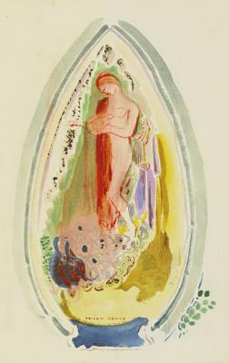 Odilon Redon. The birth of Venus or Pandora