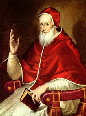 Domenico Theotokopoulos (El Greco). Portrait Of Pope Pius V