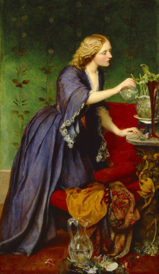 Джордж Фредерик Уоттс. Джейн (Дженни) Элизабет Нассау Старшая. 1857-1858