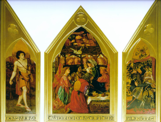 Dante Gabriel Rossetti. Of the seed of David. Triptych