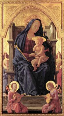 Томмазо Мазаччо. Полиптих для Санта Мария дель Кармине в Пизе, центральная часть. Мария с младенцем
