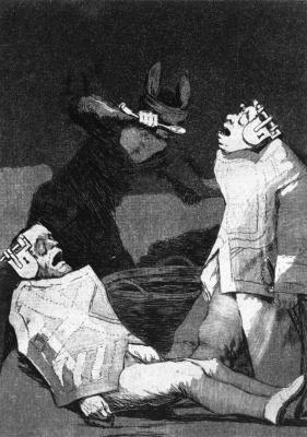 Francisco Goya. Series Los Caprichos, sheet 50: Marmots