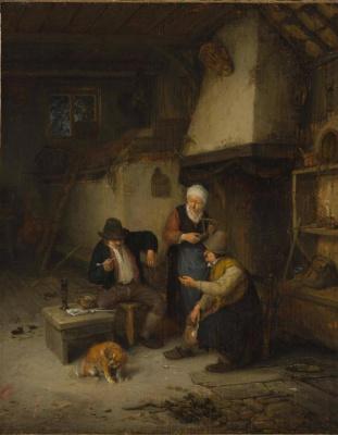 Adrian Jans van Ostade. The interior of the village Inn