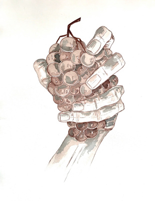 Anna Biei. Виноград в руке