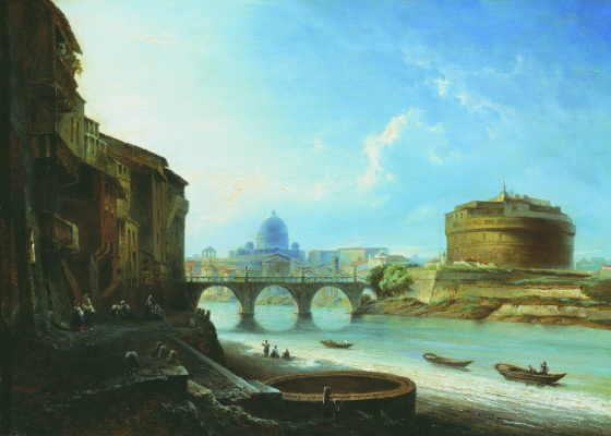 Alexey Petrovich Bogolyubov. Castle of the Holy Angel in Rome