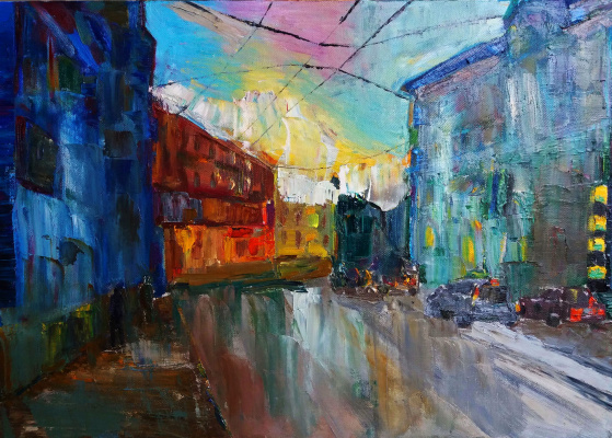 Alina Andreevna Good. Irkutsk after the rain