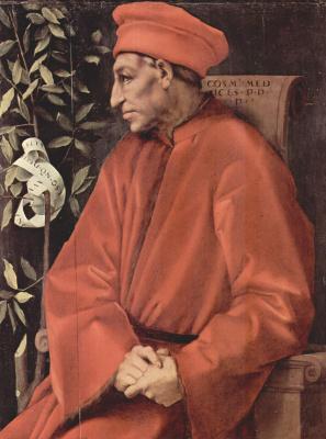 Jacopo Pontormo. Portrait of Cosimo Medici Elder