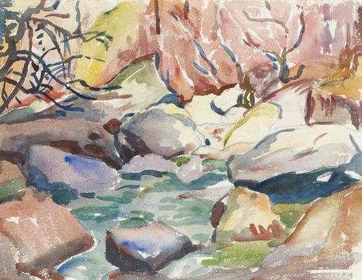 Giovanni Giacometti. River Maira, Italy