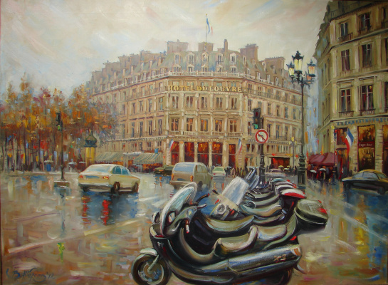 Виталий Викторович Жердев. Paris. Place André Malraux. By Vitaliy Zherdev. 2012. Oil on canvas. 95 x 70 cm.