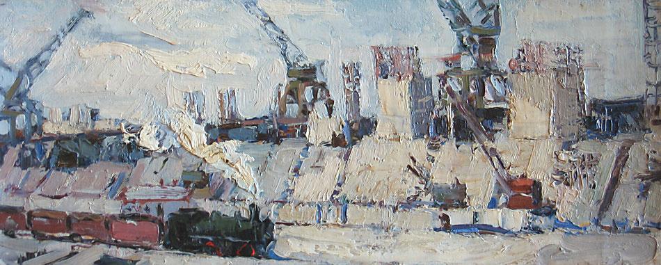 Anatoly Akimovich Nenartovich. Construction of hydroelectric power station.