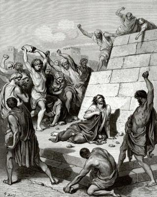 Paul Gustave Dore. Bible Illustration: The First Martyr Stephen
