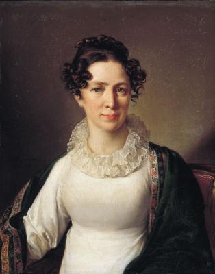 Vasily Andreevich Tropinin. Portrait of Anna Andreevny Tropinina, the artist's sister
