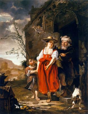 Gabrielle Metsu. The Expulsion Of Hagar