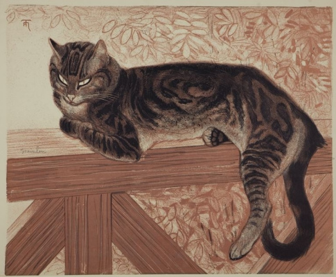 Theophile-Alexander Steinlen. Summer. Cat on the railing